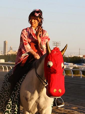 川崎競馬の誘導馬01月開催 獅子舞 和服Ver-120107-08