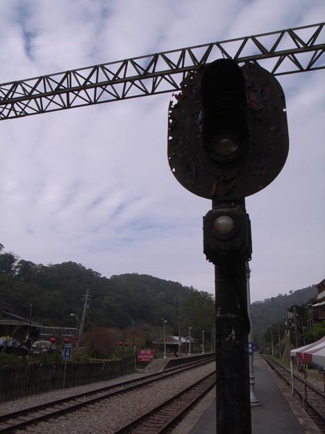 勝興駅にて