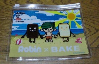 サークルKサンクス限定 Robin with his 100 friends ROBIN×BAKE ミニポーチ