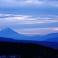 写真: 霧が峰 冬景 夜明け前