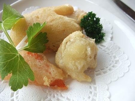 冬野菜と佐世保産メジナのベーニュ