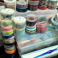 写真: お気に入りのもの:マスキングテープとプレゼントにいただいたガラス...