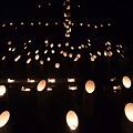 写真: 徳満寺 地蔵まつり 竹灯篭2