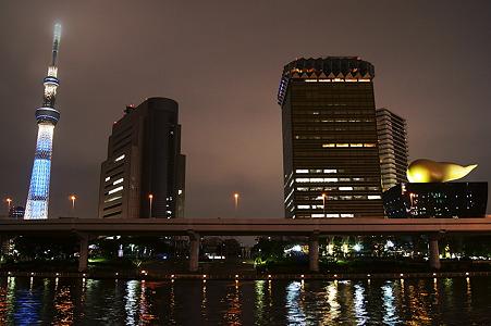 隅田川から見た眺め