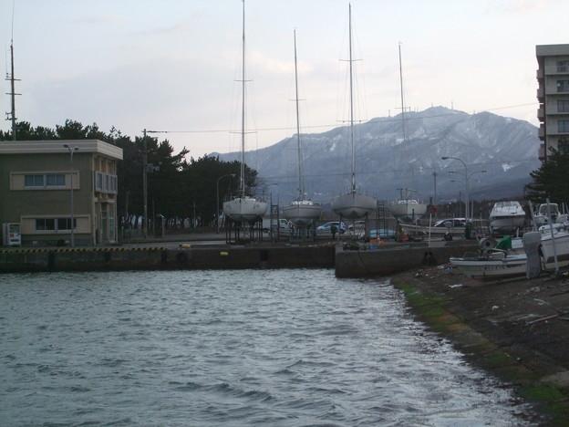 弥彦山が見えました。