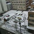 写真: 2012年4月7日朝の新潟県長岡市の様子