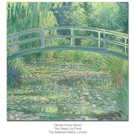 モネ「水練の池と日本の橋」