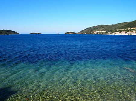 アドリア海の青い海
