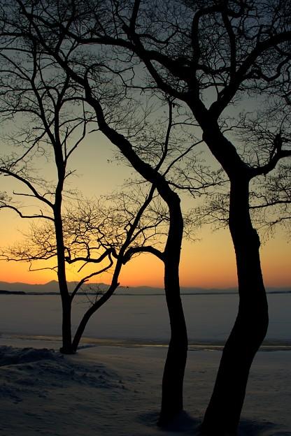 小川原湖畔
