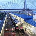Photos: EF81-101+24系 日本海・奥羽本線701系0番台 N7編成