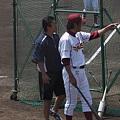 写真: 田代コーチと入来