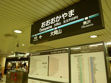 大岡山駅 上りホーム 目黒線 駅名標 (2011)