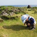 写真: 岬の地面が気になる人