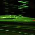 Photos: 新幹線N700系 1/30秒後追い流し撮り -グリーンバージョン-