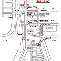 写真: 平成23年度西之町屋台運行地図14日