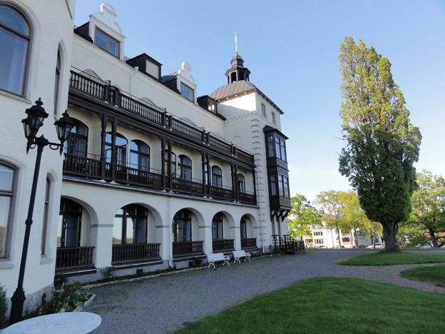 写真: ホテル・グランド・サルツショーバーゲンの庭先から。