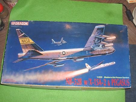 ドラゴン200分の1「NB-52 とX15とペガサスロケット」
