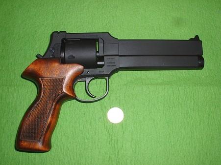 マルシン 「トグサの銃 マテバM-M2007」初回ロット(ただし グリップは別売り木製に交換済)  右側面 Doburo