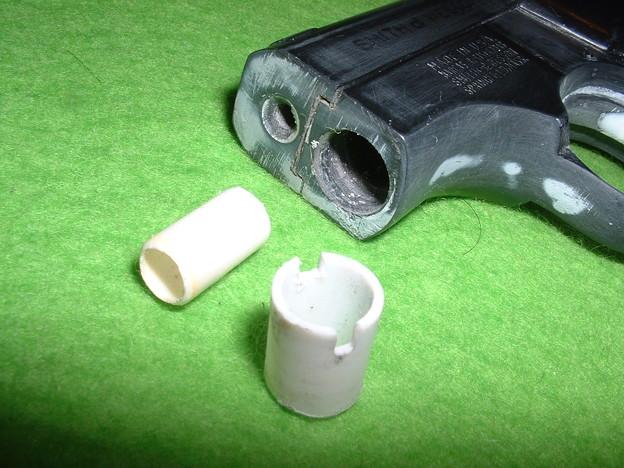 虎ビス屋 実銃型取り「S&W M61 エスコート」銃口周りの部品構成  Doburoku-TAO
